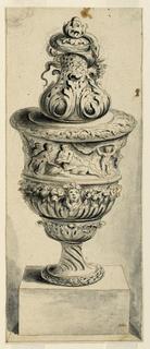 Drawing, Urn on Pedestal, ca. 1650