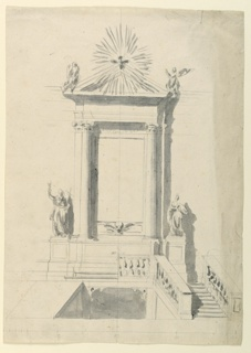 Drawing, An Altar Over a Crypt