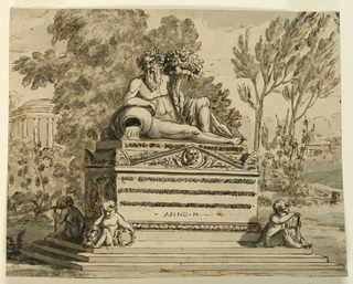Drawing, Monument for a poet