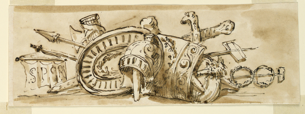 Drawing, Decoration of a frieze