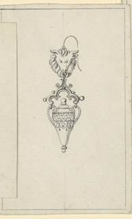 Drawing, Design for an earring, ca. 1880