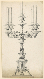 Drawing, Candlestick, 1900