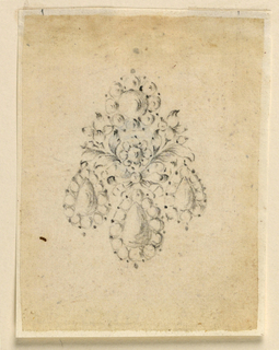 Drawing, Design for an earring, ca. 1770