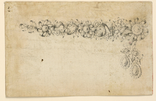 Drawing, Design for a necklace, ca. 1762