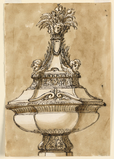 Drawing, Baptismal font