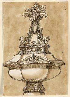 Drawing, Baptismal font