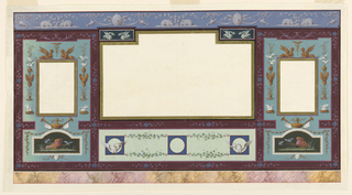 Drawing, Painted wall decoration, 1820–30