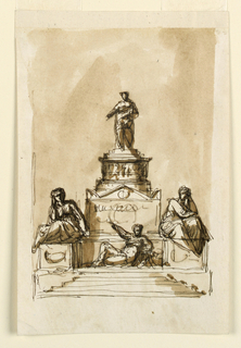Drawing, Sepulchral monument