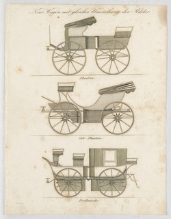 Print, Three Carriages