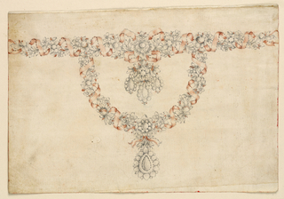 Drawing, Design for a necklace, ca. 1785