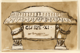 Drawing, Sarcophagus