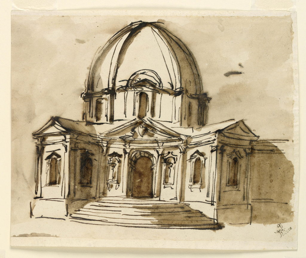 Drawing, Elevation of a church, 1746-1809