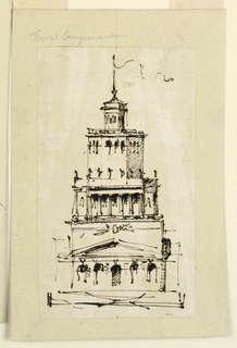 Drawing, Villa or observation tower, 1746-1809