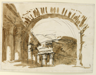 Drawing, Ruins of an antique building