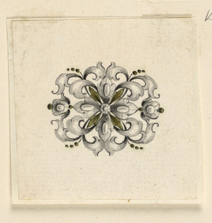 Drawing, Design for a brooch, ca. 1755