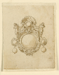 Drawing, Design for brooch with round diamond, 16th century