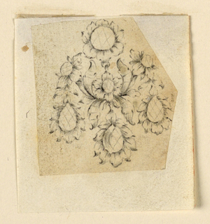 Drawing, Design for an earring, ca. 1760