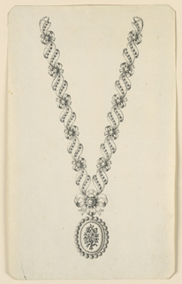 Drawing, Design for a Necklace