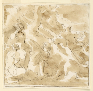 Sketch, Classical Scene with Hermes and Other Figures.