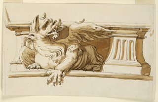 Drawing, Section of frieze beneath vault