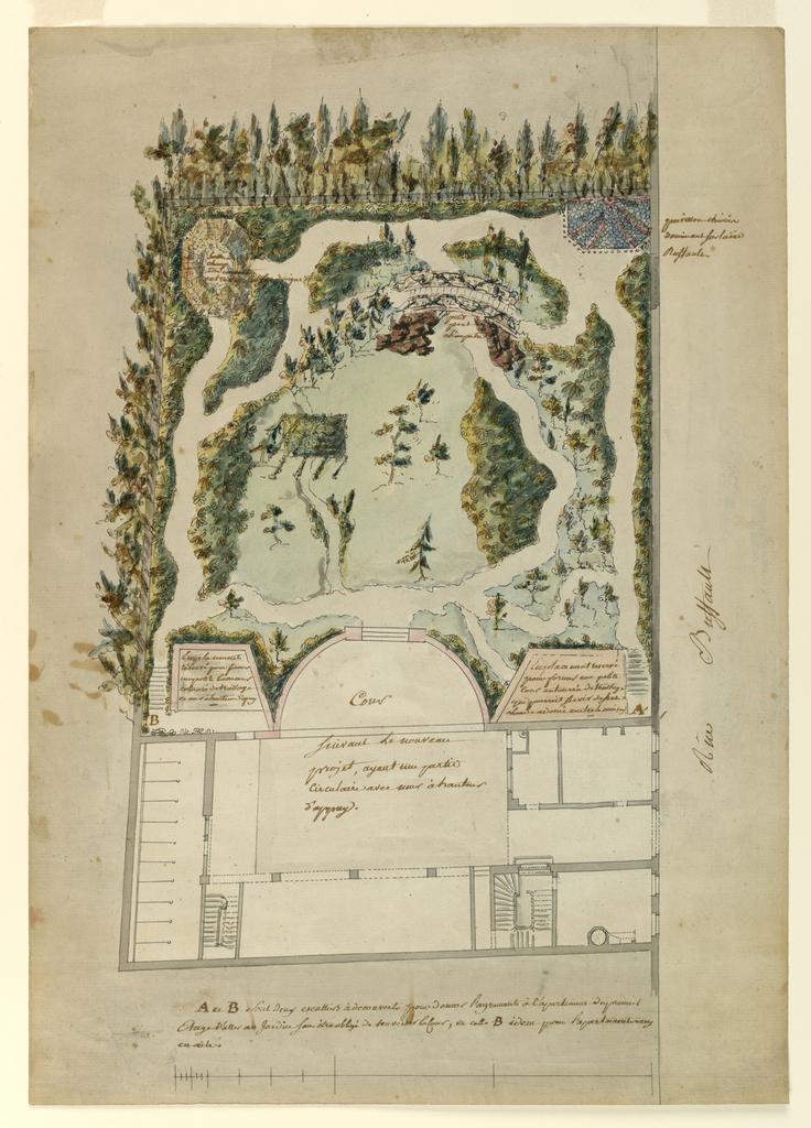 Drawing, English Landscape Garden