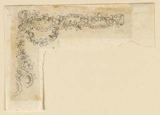 Drawing, Design for necklace, ca. 1780