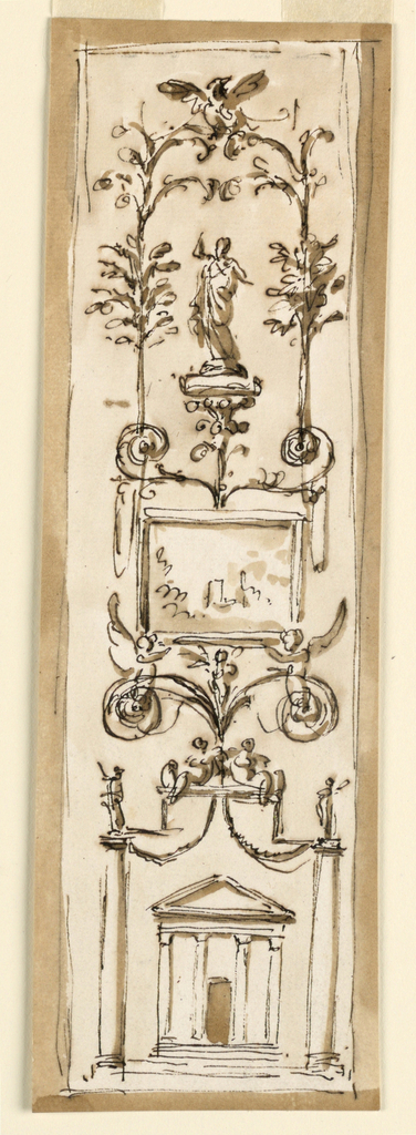 Drawing, Design for the Decoration of a Panel, 1746-1809