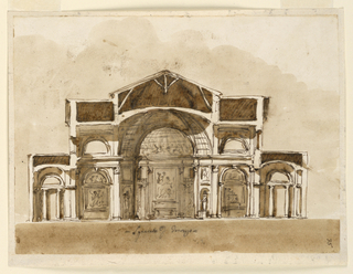 Drawing, Cross section of a church