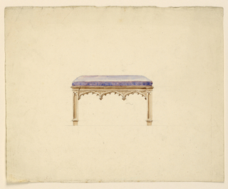 Drawing, A bench, 1830
