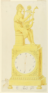 Drawing, Design for a clock