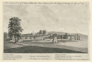 Print, Ancient View of St. James's and Westminster Abbey, London