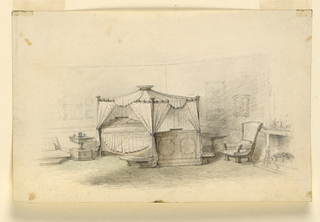 Drawing, Bedroom, ca. 1830