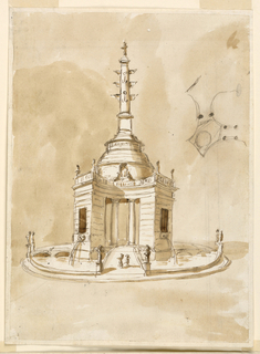 Drawing, Fountain