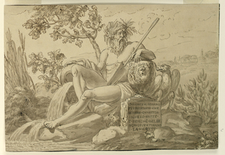 Drawing, Monument for Pedrosellini of Rome