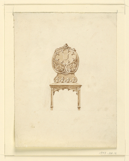 Drawing, Design for a side chair, 1830