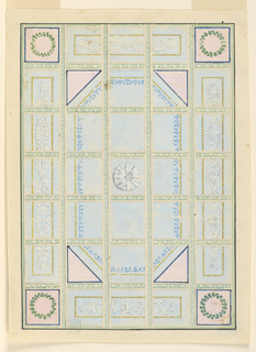 Drawing, Painted ceiling with alternate sugg., 1800–1825
