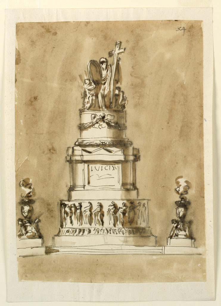 Drawing, Monument for Louis XVI of France
