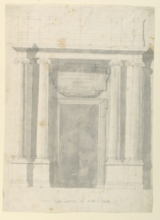 Drawing, The Elevation of a Church, 1775