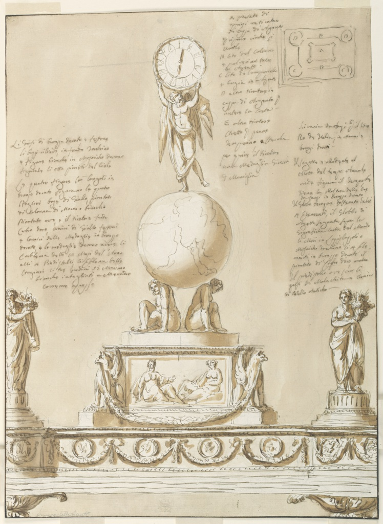 Drawing, Inkstand for the Viceroy Eugène de Beauharnais of Italy