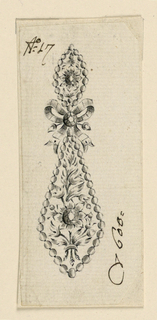 Drawing, Design for an earring, 1800–1825