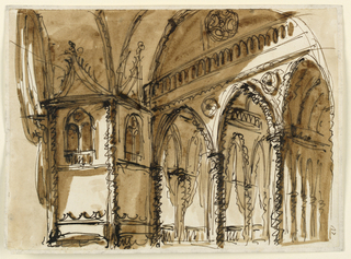 Drawing, Stage set