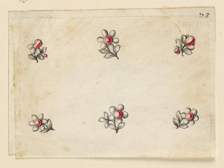 Drawing, Design for six small pins, 1770–80