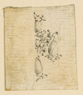 Drawing, Design for a pendant, ca. 1760