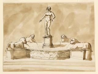 Drawing, Fountain