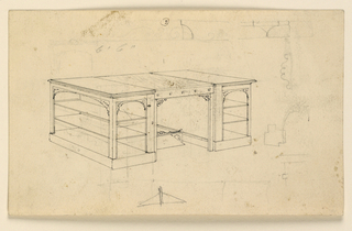 Drawing, R. and V: Project for a desk