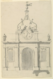 Drawing, Pavilion with Bell Tower, 1775