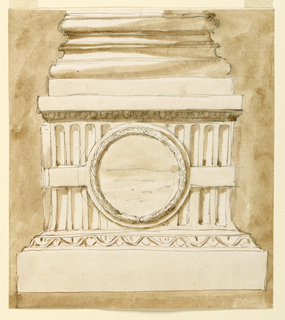 Drawing, Pedestal of a column