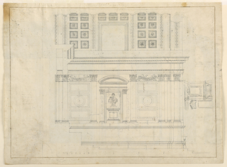 Drawing, Wall and ceiling decoration for a church, 1775–1800