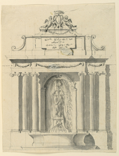 Drawing, Wall Fountain, 1775