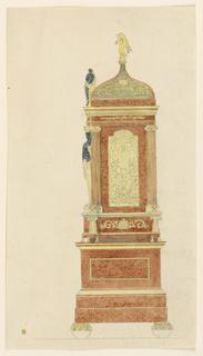 Drawing, Stove or clock (?), 1820